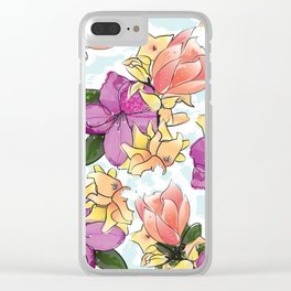 the magnolia Clear iPhone Case