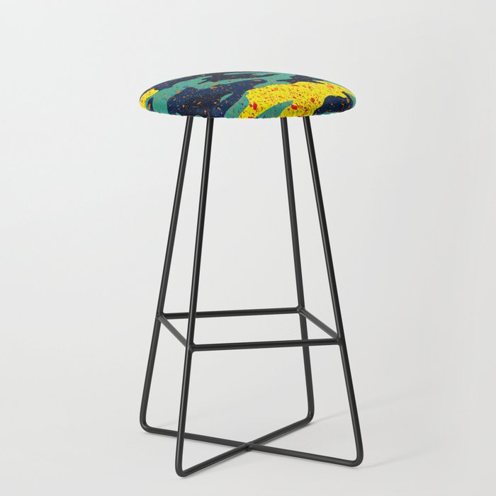CAMOUFLAGE II Bar Stool