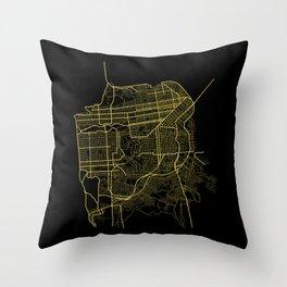 San Francisco Map Throw Pillow