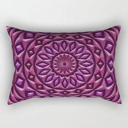 Carved in Stone Mandala Rectangular Pillow