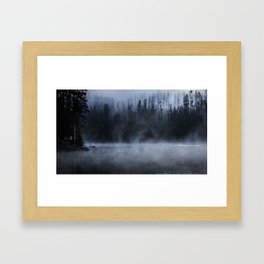 Early Morning Fog on the Yellowstone River Framed Art Print