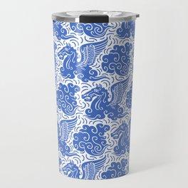 Pegasus Pattern Blue Travel Mug