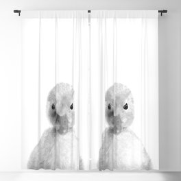 Black and White Duckling Blackout Curtain