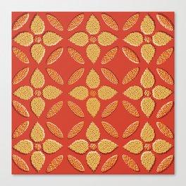 Jaipur Trellis Saffron Canvas Print
