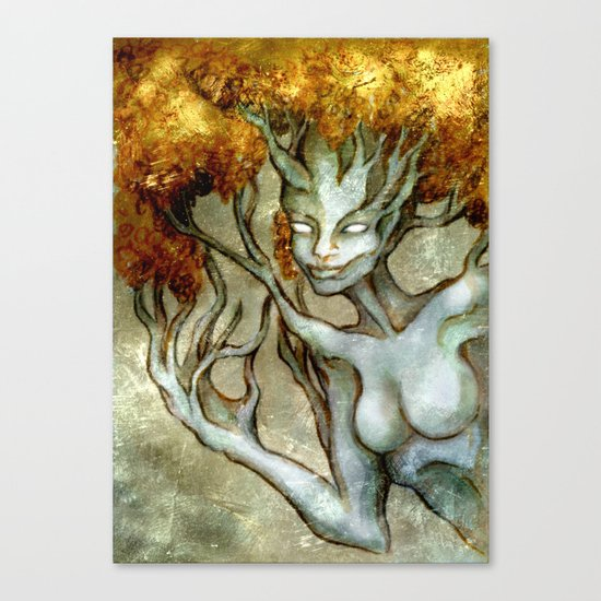 Golden Dryad Canvas Print
