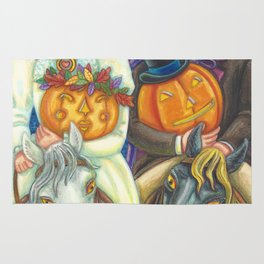 SLEEPY HOLLOW WEDDING - Brack Headless Horseman Halloween Art Rug