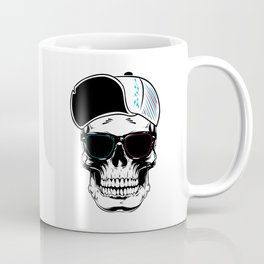 White Art Stylish Skull Coffee Mug