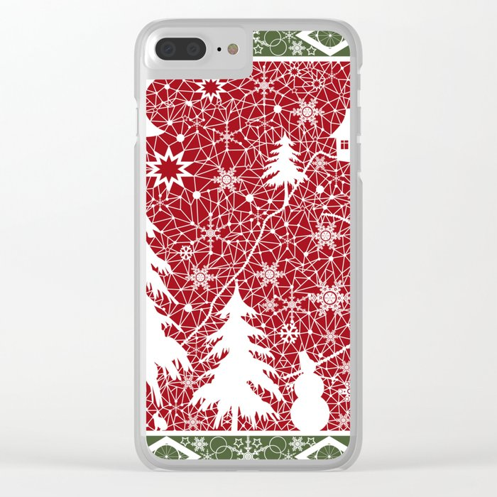 Winter. Christmas. Clear iPhone Case