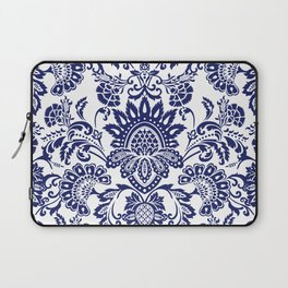 damask blue and white Laptop Sleeve
