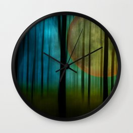 Full Moon Forest Wall Clock