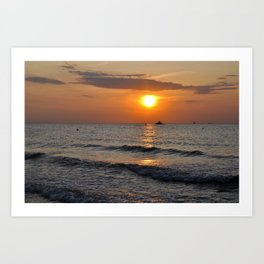 SUMMER-FEELING - Sunset - Baltic Sea Art Print