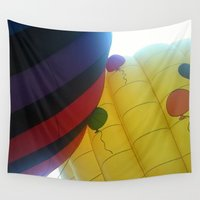 hot air balloons Wall Tapestries featuring Hot Air Balloons by merialayne