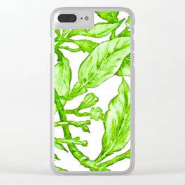 Branch of an Orange tree in Winter Clear iPhone Case