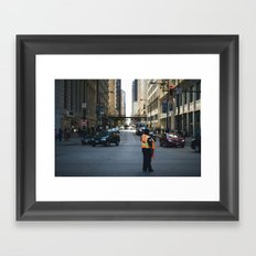 Chicago Streets Framed Art Print