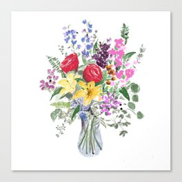 Explosion or flowers Canvas Print