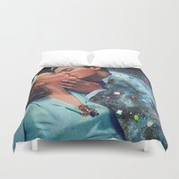 eugenia loli Duvet Covers featuring I Wish I Was a Cloud Too by Eugenia Loli