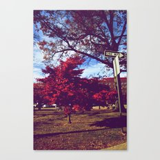 Fall My Way | Red Canvas Print