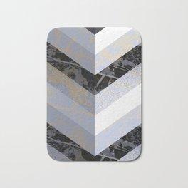 Chevron Pattern 2. Blue, Marble and Glitter #decor #buyart Bath Mat