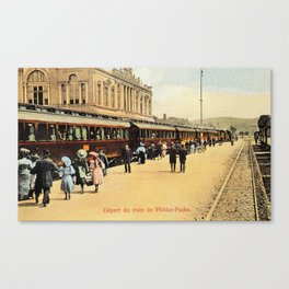 1900s Haydarpasa railroad station, train Canvas Print