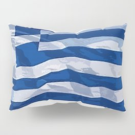 Greece Fancy Flag Pillow Sham