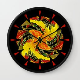Mongol Sun Wall Clock