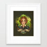 i want to believe Framed Art Prints featuring I Want to Believe by Megan Lara
