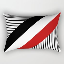 Three diagonal stripes Rectangular Pillow