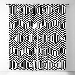 Op art hexagon Blackout Curtain