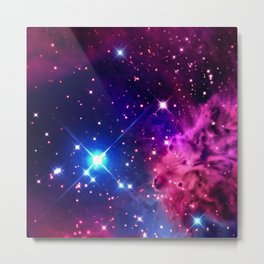 purple nebula Metal Print