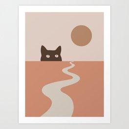 Cat Landscape 16 Art Print