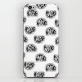 Pattern of a dog smiling iPhone Skin