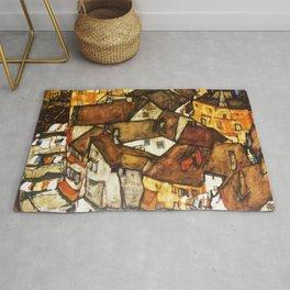 Egon Schiele - Crescent of Houses (The small City V) Rug