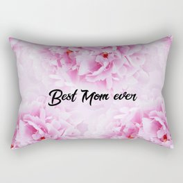 Pink Peonies Dream - Best Mom Ever #1 #floral #decor #art #society6 Rectangular Pillow