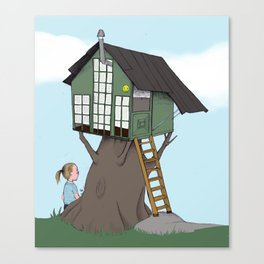 Little  treehouse Canvas Print
