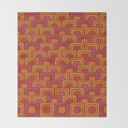 Geometric Retro Pattern Throw Blanket