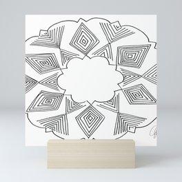 Geometric Cloud Mini Art Print