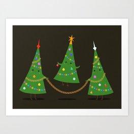 Christmas skipping Art Print