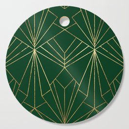 Art Deco in Gold & Green - Large Scale Cutting Board