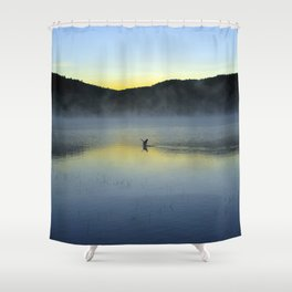Perfect Landing (Sunrise, Lake George) Shower Curtain