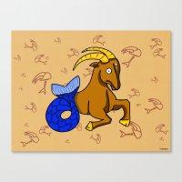 capricorn Canvas Prints featuring Capricorn by Giuseppe Lentini