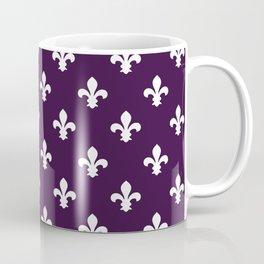 Aubergine Southern Cottage Fleur de Lys Coffee Mug