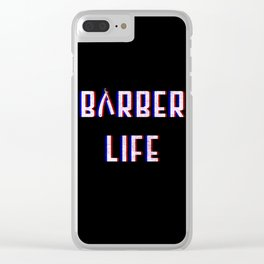 Barber Life Vintage Classic Barber Retro Distressed Gift Clear iPhone Case