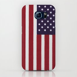American flag with painterly treatment iPhone Case