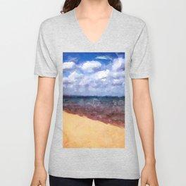 Beach Under Blue Skies Unisex V-Neck