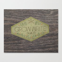 Grow Write Guild Seal Canvas Print