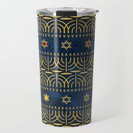 Menorah Pattern Travel Mug