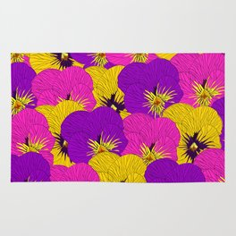 Floral chain Rug