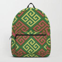 Ornate Twists Retro Geometric Digital Pattern Backpack