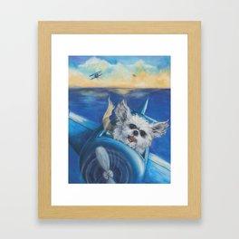Cookie the Fighter Pilot Framed Art Print