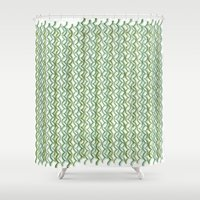 knit Shower Curtains featuring Knit Pattern by VessDSign